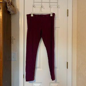 Mossimo Textured Purple Leggings